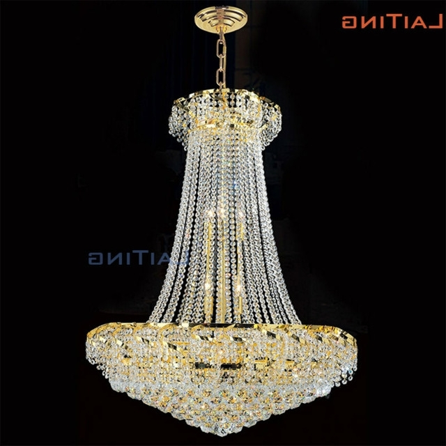 "Laiting D28"" Scandinave Spiral Chandelier Crystals Gold Fashion In Favorite Egyptian Crystal Chandelier (Gallery 3 of 10)"