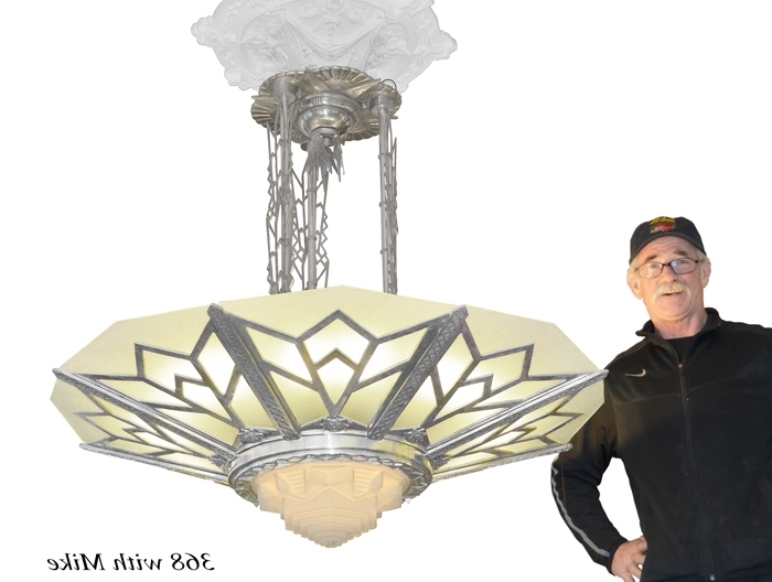 Large Art Deco Chandelier Regarding Well Known Vintage Hardware & Lighting – Large Art Deco Chandelier Manhattan (View 4 of 10)