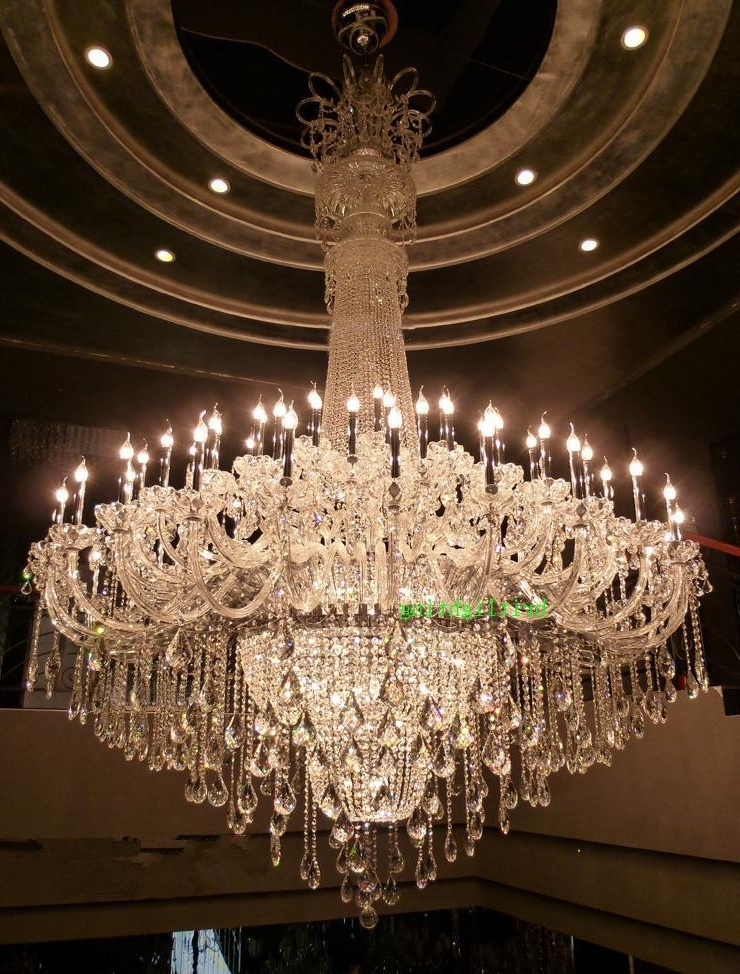 Large Crystal Chandelier Chrome Extra Large Chandelier For Hotel In Preferred Extra Large Chandelier Lighting (View 7 of 10)
