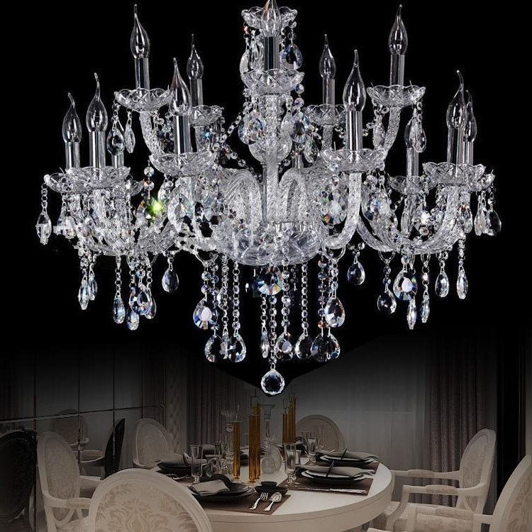 Large Crystal Chandeliers Within Best And Newest Star Hotel Clear Large Crystal Chandelier Penthouse Modern Big (View 6 of 10)
