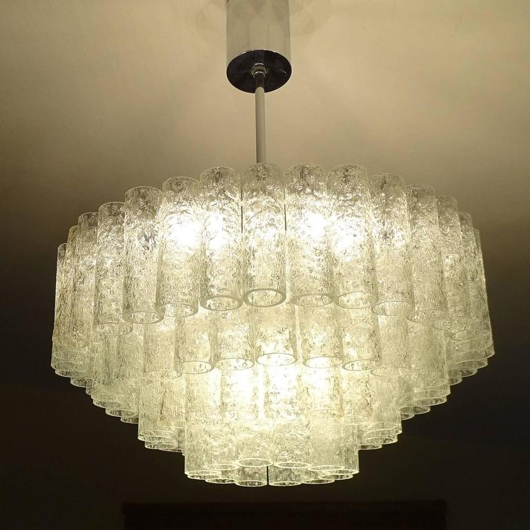Large Doria Murano Glass Chandelier For Sale At 1stdibs For Fashionable Large Glass Chandelier (View 10 of 10)