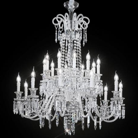 """Large Glass Chandelier With Regard To Most Recently Released Cima"""" Large Venetian Crystal Chandelier – Murano Glass Chandeliers (View 8 of 10)"""
