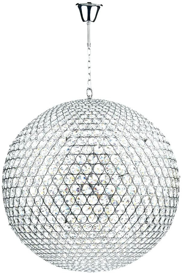 Large Globe Chandelier Throughout Widely Used Crystal Globe Chandelier Luxury Crystal Globe Chandelier Or Fiesta (View 6 of 10)