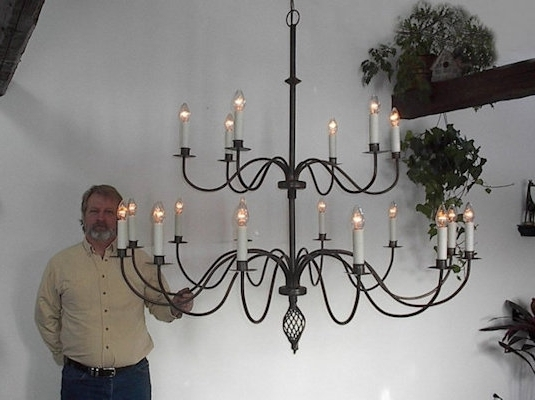 Large Iron Chandelier Intended For Preferred Ace Wrought Iron Custom Large Wrought Iron Chandelier 60 Inch Dia (View 5 of 10)