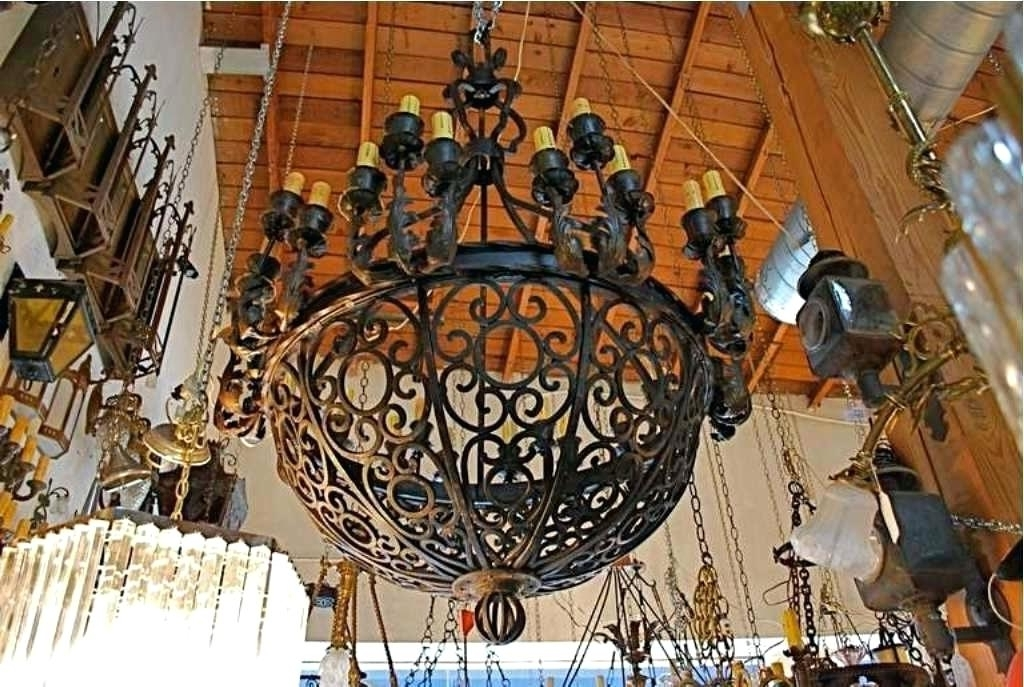 Large Spanish Iron Chandelier – Chandelier Designs Intended For Trendy Large Iron Chandelier (View 9 of 10)