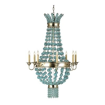Large Turquoise Chandeliers Pertaining To Well Known 34 Best Coastal Chandeliers Images On Pinterest (View 4 of 10)