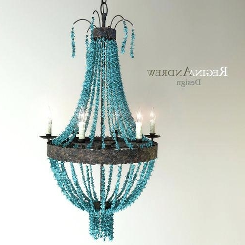 Large Turquoise Chandeliers Within Most Recent Chandelier Turquoise Medium Size Of Blue Beaded Chandelier Turquoise (View 5 of 10)