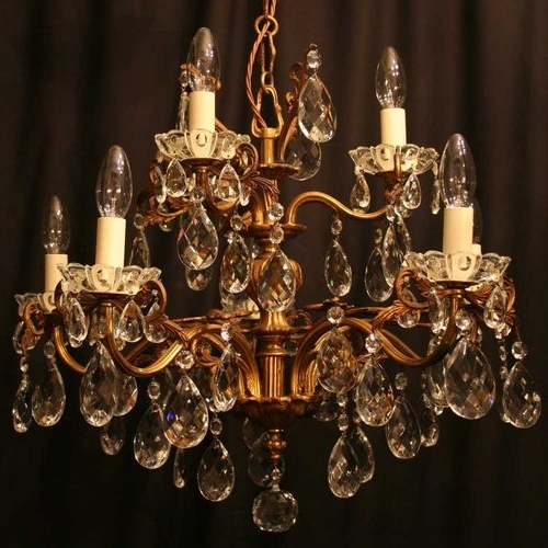 Latest Antique Chandeliers Inside Antiques Atlas – Italian Gilded 8 Light Antique Chandelier (View 4 of 10)