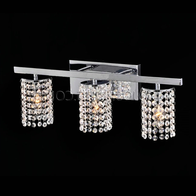 Latest Bathroom Chandelier Wall Lights In Wall Lights Design Cheap Crystal Sconce Lighting Bathroom In (View 6 of 10)
