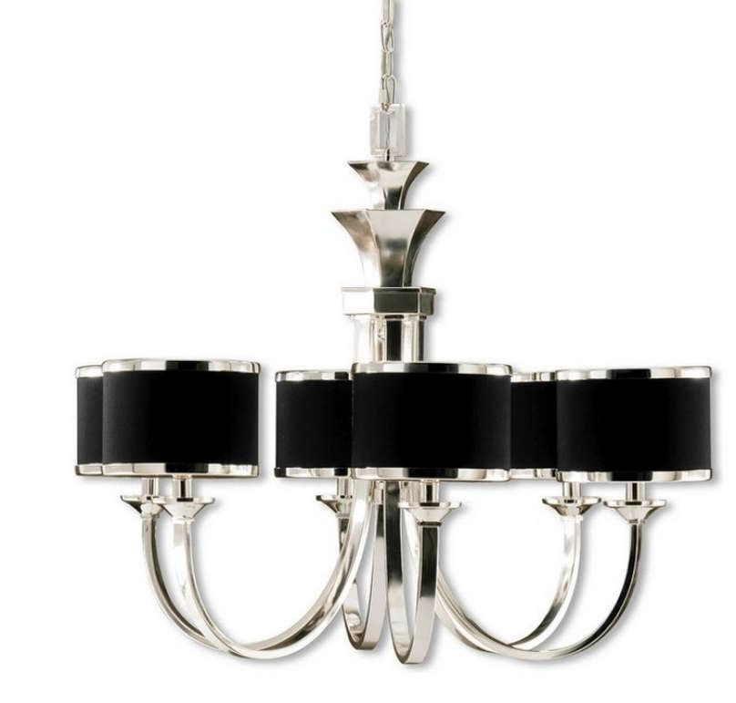Latest Black Chandeliers With Shades For Nice Bronze And Crystal Chandeliers Black Chandelier With Shades (View 4 of 10)