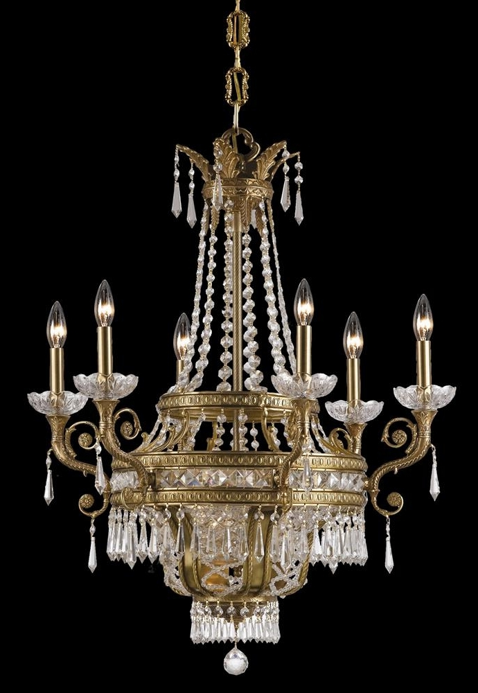 Latest Buy Solid Brass Crystal Chandelier Intended For Brass And Crystal Chandeliers (View 5 of 10)