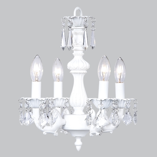 Latest Chandelier White Throughout Small White Chandeliers (View 4 of 10)