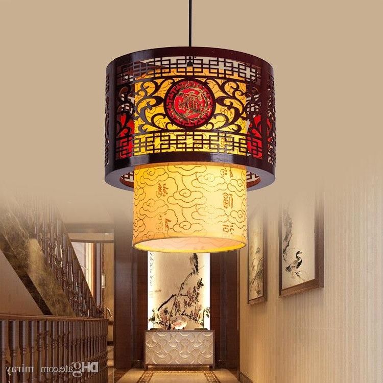 Latest Chinese Chandelier With Regard To Chinese Led Hollow Wooden Bedroom Tea Restaurant Corridor Balcony (View 6 of 10)