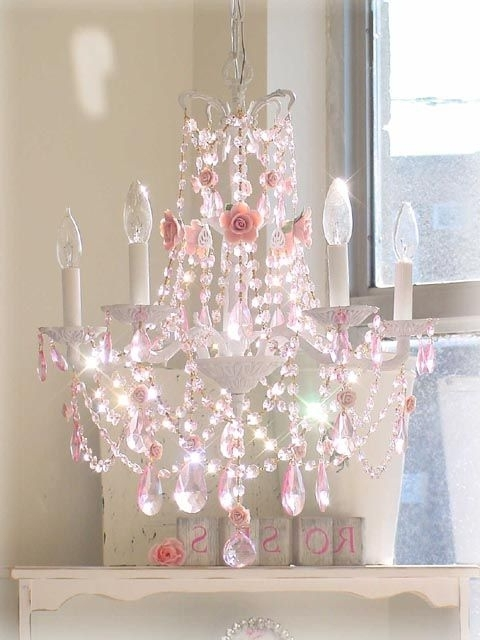 Featured Photo of Crystal Chandeliers For Baby Girl Room