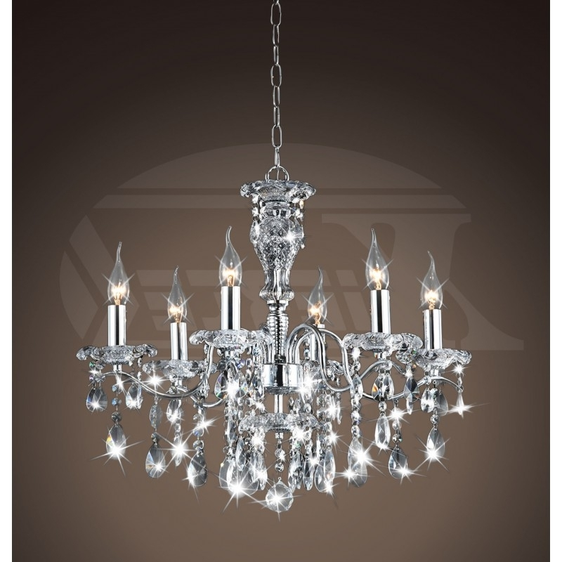 Latest Crystal Chrome Chandelier For Creative Of Lighting Crystal Chandeliers Maddison Shine 6 Light (View 7 of 10)