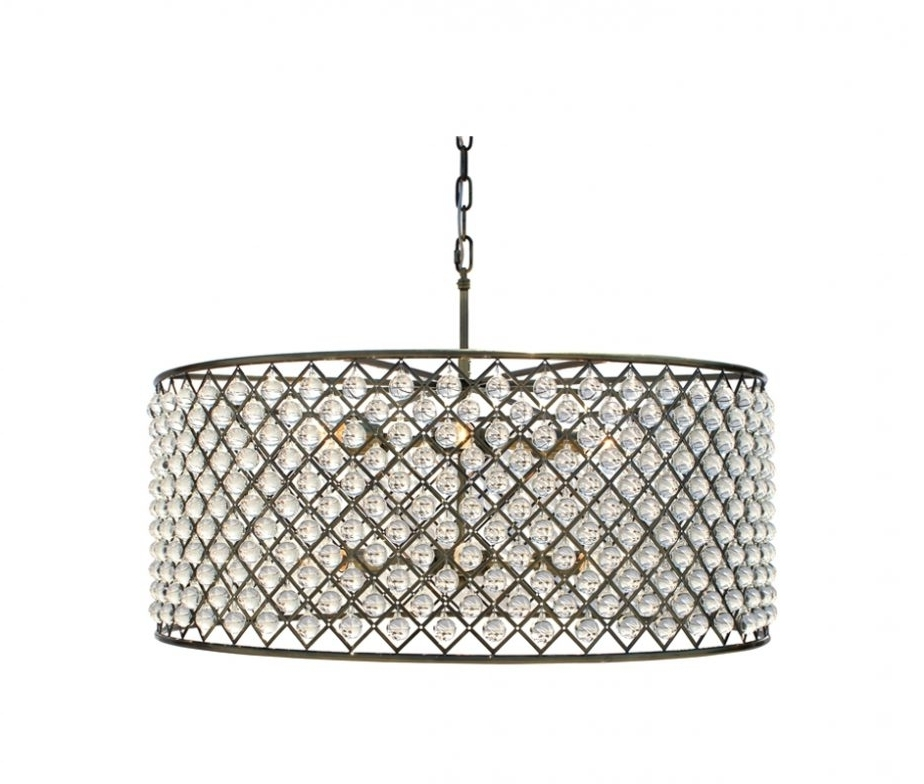 Latest Drum Chandeliers With Crystals Eimatco Dining Room Marvelous For Turquoise Drum Chandeliers (View 10 of 10)