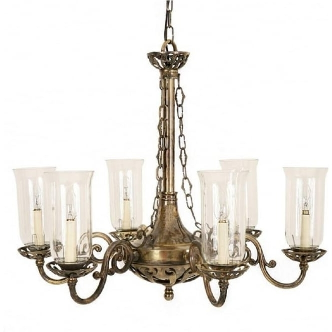 Latest Empire Edwardian Hanging Ceiling Chandelier With Storm Glass Shades Inside Edwardian Chandelier (View 5 of 10)