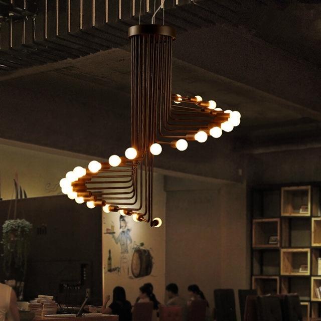 Latest Fumat Loft Retro Chandelier Modern Art Deco Minimalist Living Room Throughout Retro Chandeliers (View 3 of 10)