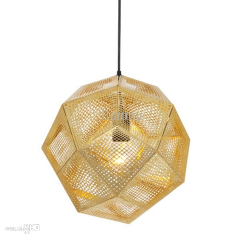 Latest Gold Modern Chandelier Intended For Tom Dixon Etch Light Pendant Lamp Modern Chandelier Ceiling Lamp (View 6 of 10)