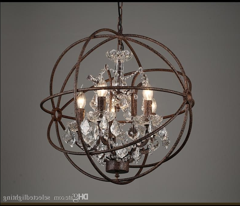 Latest Orb Chandelier With Rh Industrial Lighting Restoration Hardware Vintage Crystal (View 8 of 10)