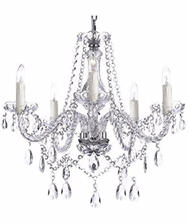 Latest Saint Mossi Modern Contemporary Elegant K9 Crystal Glass Chandelier Throughout Glass Chandelier (View 9 of 10)