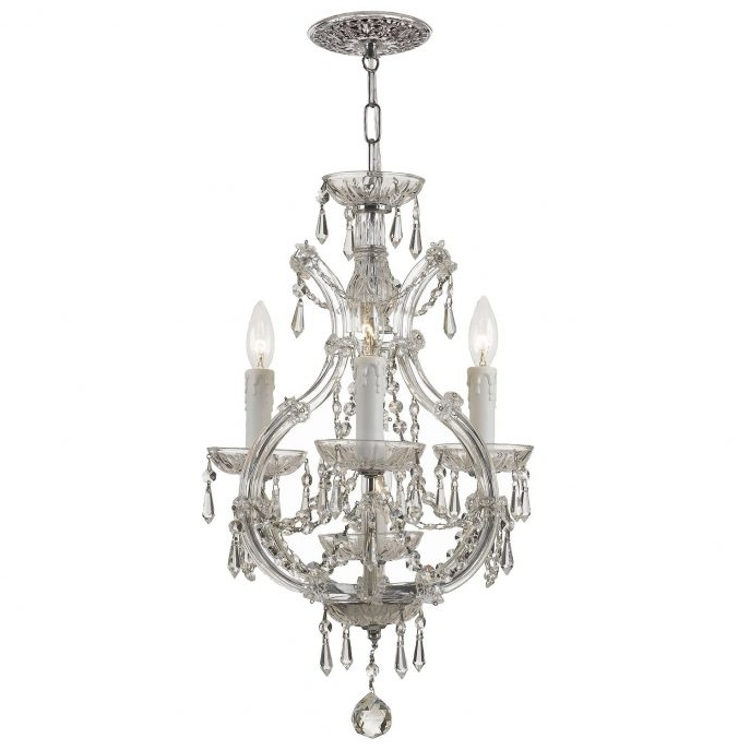Latest Small Chrome Chandelier With Chandeliers : Amazing Mini Crystal Chandelier Beautiful Innovative (View 5 of 10)