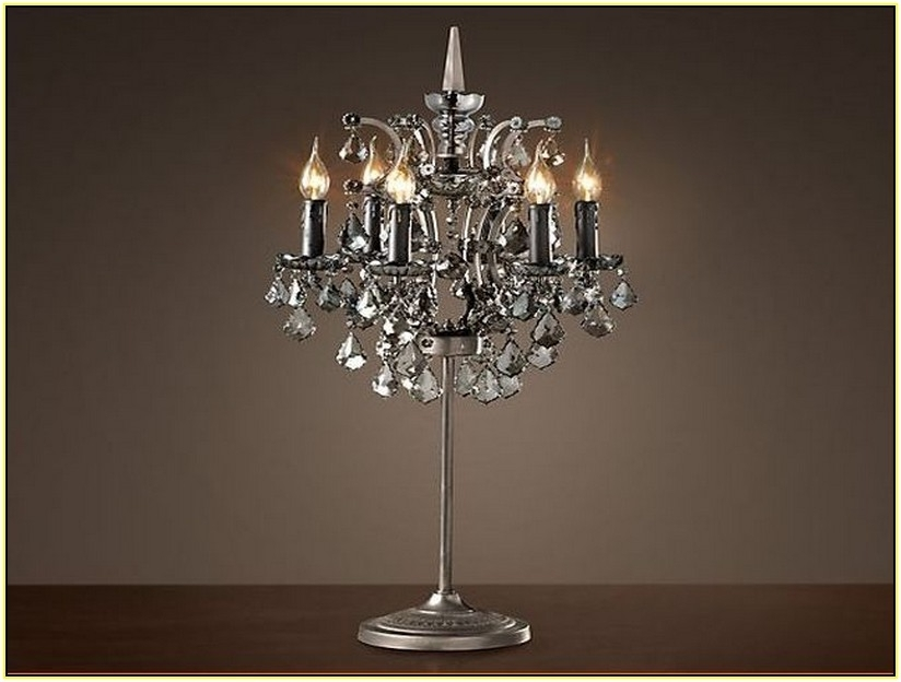 Latest Table Chandelier Lamps – Buzzmark With Regard To Mini Chandelier Table Lamps (View 6 of 10)