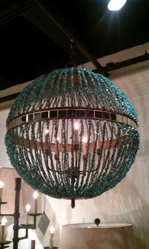 Latest Turquoise Marble Orb Chandelier – The Designer Insider Inside Turquoise Orb Chandeliers (View 6 of 10)