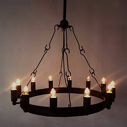 Latest Wrought Iron Chandelier Ceiling Light Industrial Vintage Chandelier For Wrought Iron Chandelier (View 4 of 10)