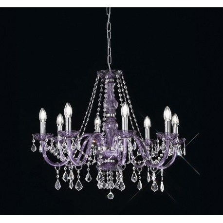 Lead Crystal Chandelier Intended For Well Known Lead Crystal Chandelier 454/8/cr/mc Viola – Artital Lighting & Home (View 7 of 10)