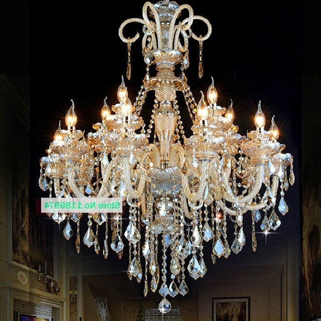 Led Lamps Modern Crystal Chandelier Lighting Furniture Big With Well Liked Hanging Candelabra Chandeliers (View 3 of 10)