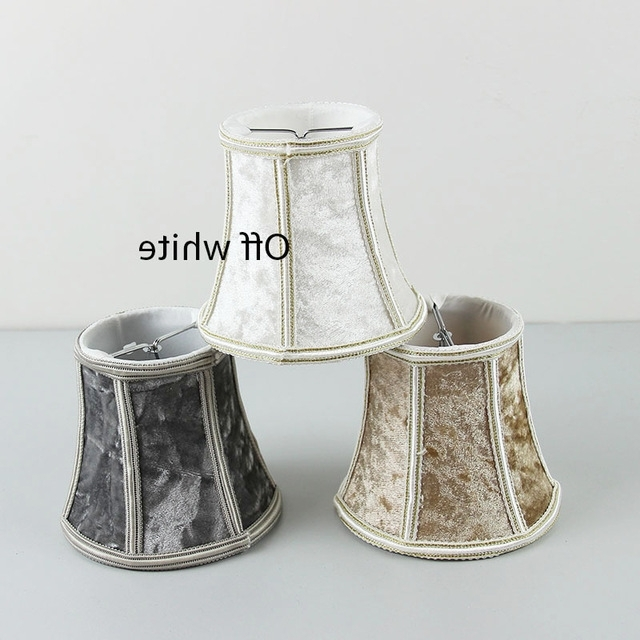 Light Diy High Quality White Brown Gray 3 Color Flannel Lampshades With Well Known Chandelier Lamp Shades Clip On (View 7 of 10)