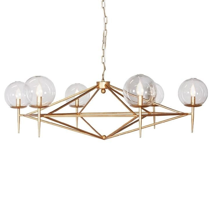 Lighting – An Angular Gold Metal Frame And Six Globe Spheres For 2017 Gold Modern Chandelier (View 5 of 10)
