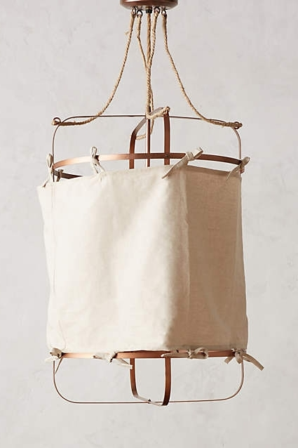 Linen Chandeliers Inside Well Known Hooped Linen Chandelier – Anthropologie #anthrofave (View 4 of 10)