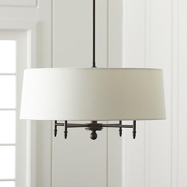 Linen Chandeliers With Best And Newest And White Round Linen Shade Chandelier Drum 28 Best Chandeliers (View 8 of 10)
