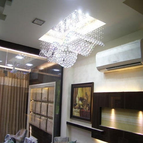 Living Room Ceiling Crystal Chandeliers, Jhumar, Chandelier Lighting Within Famous Chandelier Lights For Living Room (View 4 of 10)