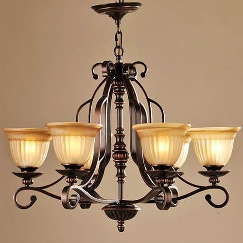 Lnc 6 Light Traditional Chandeliers, Oil Rubbed Bronze Glass Shade Regarding Well Known Traditional Chandelier (View 6 of 10)