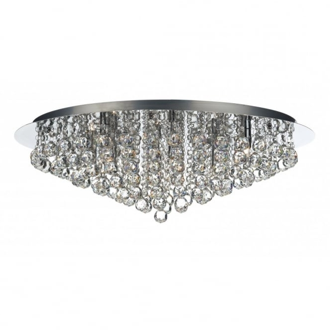 Low Ceiling Chandelier Intended For Most Recent Pluto Large Chrome & Crystal Chandelier For Low Ceilings (View 3 of 10)