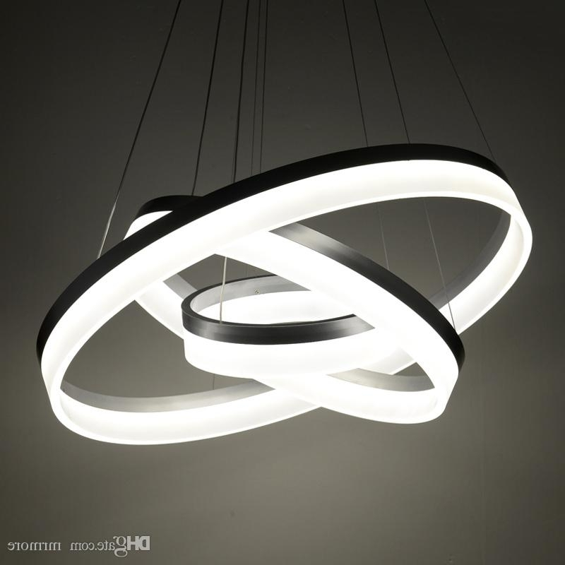 Luxury Modern Chandelier Led Circle Ring Chandelier Light For Living Intended For Most Popular Modern Chandelier (View 4 of 10)