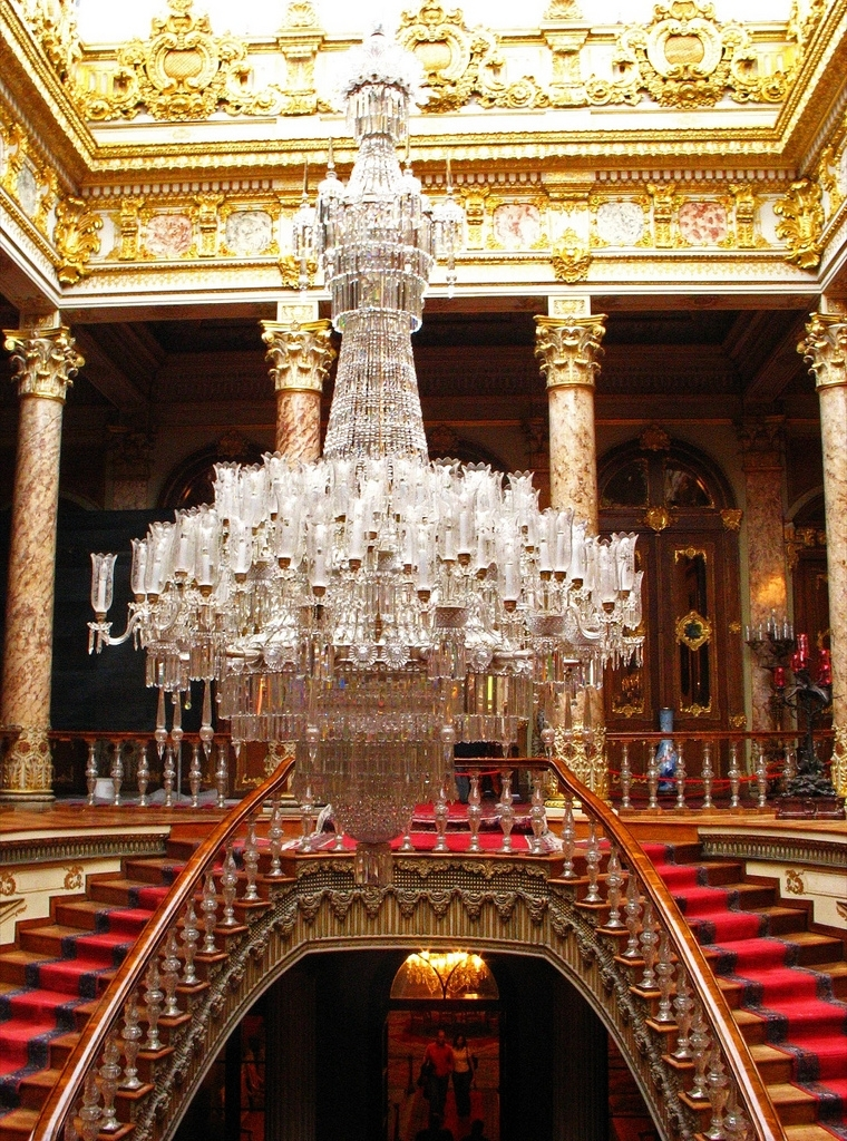 Massive Chandelier Inside Dolmabahçe Palace Throughout Massive Chandelier (View 7 of 10)