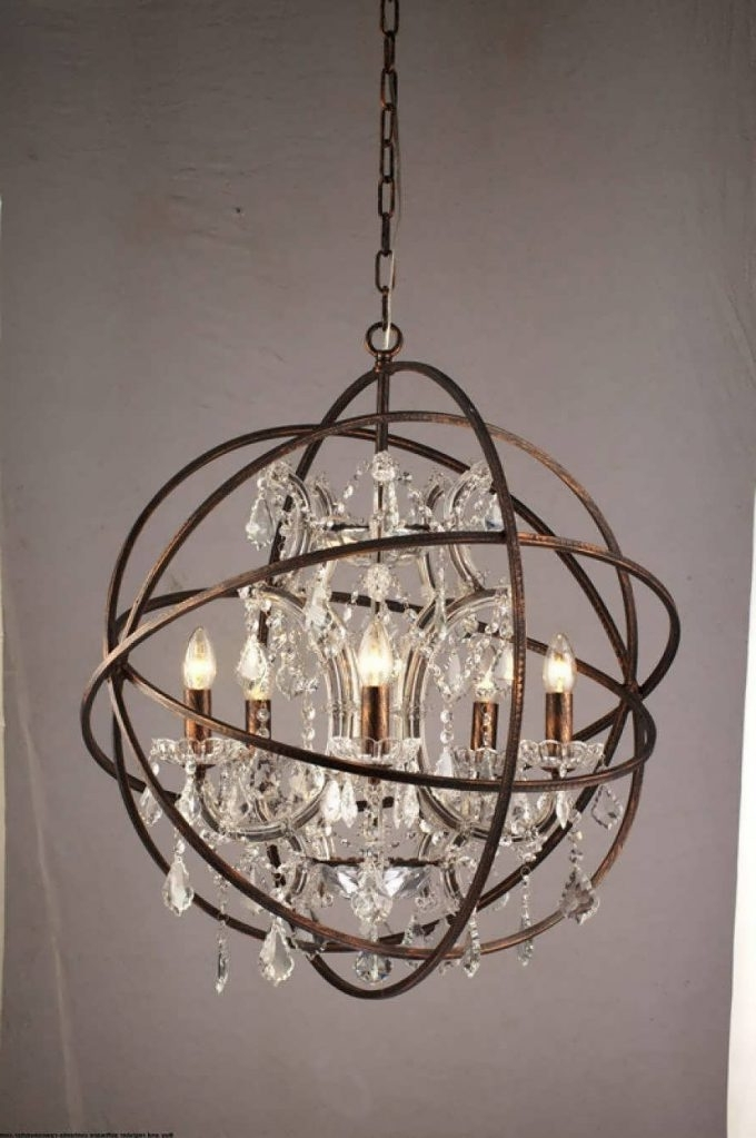 Metal Ball Candle Chandeliers Intended For Best And Newest Metal Ball Candle Chandelier – Chandelier Designs (View 6 of 10)