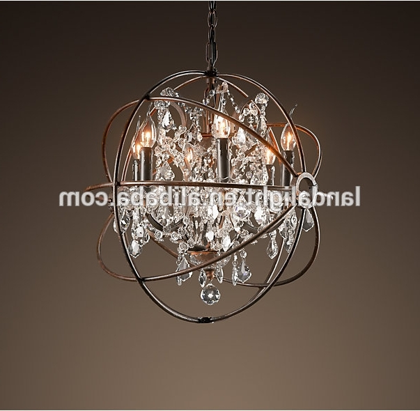 Metal Ball Chandeliers Within Most Up To Date Rh Retro Metal Ball Crystal Chandelier Lighting – Buy Rh Chandelier (View 8 of 10)