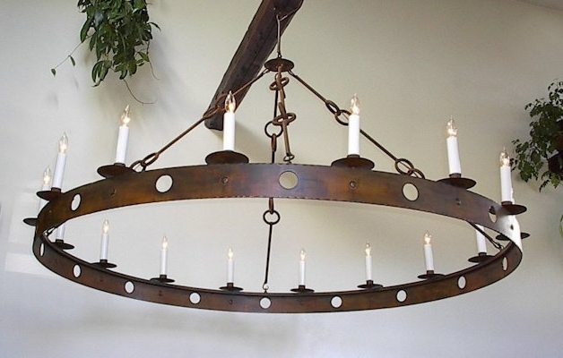 Metal Chandeliers With Fashionable Ace Wrought Iron – Custom Large Wrought Iron Chandeliers Hand Forged (View 4 of 10)