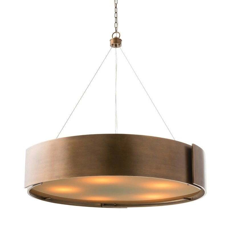 Metal Drum Chandeliers For Current Modern Drum Chandeliers Allmodern Regarding Stylish Home Metal (View 6 of 10)
