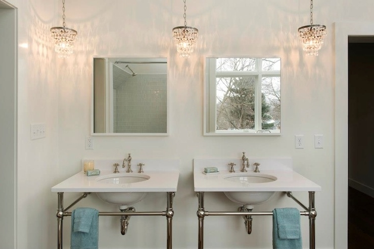 Featured Photo of Mini Bathroom Chandeliers