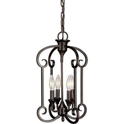 Mini – Bronze – Chandeliers – Lighting – The Home Depot In 2017 Small Bronze Chandelier (View 4 of 10)