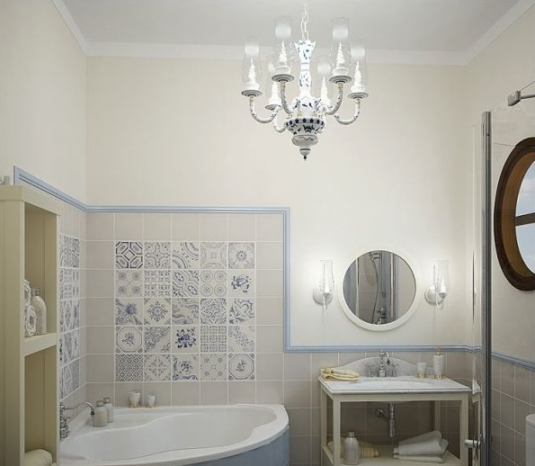 Mini Chandelier Bathroom Lighting Pertaining To Most Recent Classic Pendant Chandelier Bathroom Lighting Ideas For Small (View 6 of 10)
