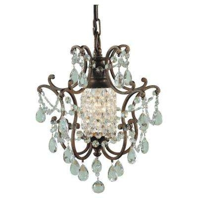 Mini – Chandeliers – Lighting – The Home Depot Inside Most Current Small Bronze Chandelier (View 5 of 10)