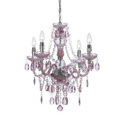 Mini – Pink – Chandeliers – Lighting – The Home Depot Intended For Current Pink Plastic Chandeliers (View 8 of 10)