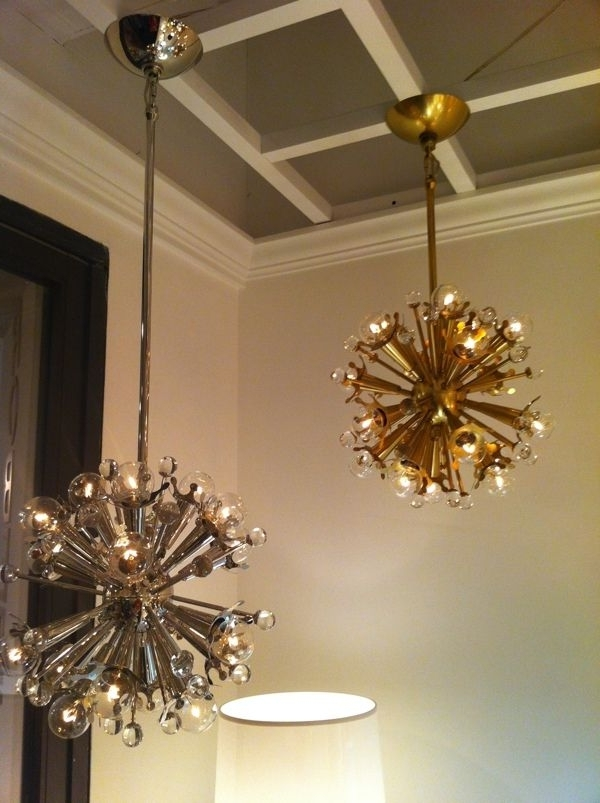 Mini Sputnik Chandelier In Nickel And Brassjonathan Adler For Throughout Preferred Mini Sputnik Chandeliers (View 4 of 10)